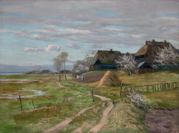 Gehöft in Althagen im Frühling