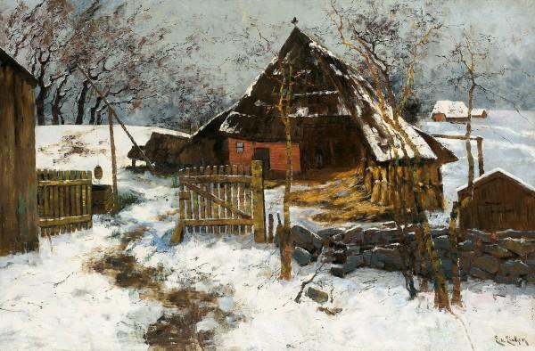 Dornenhaus im Schnee